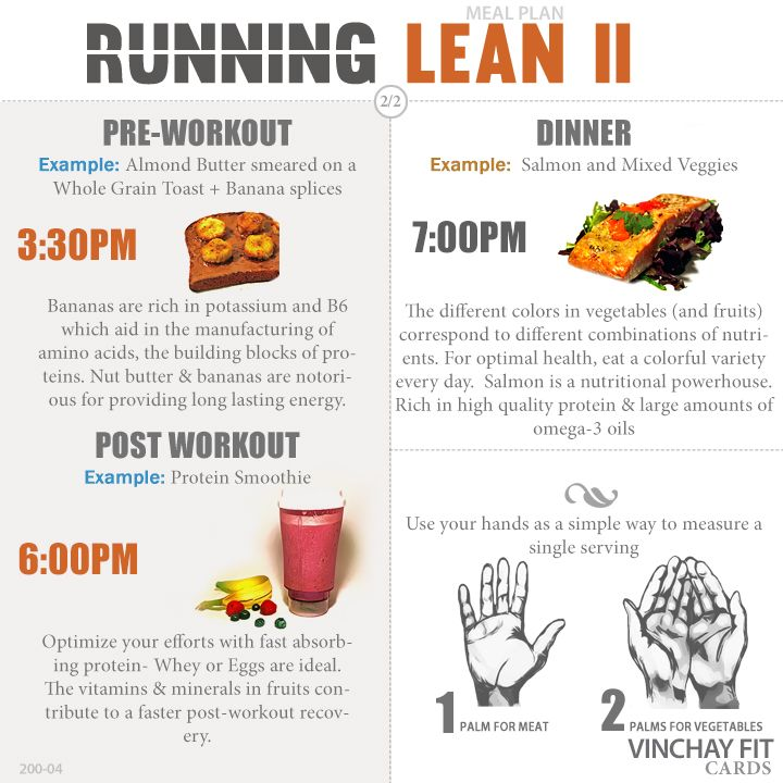 Running Lean Meal Plan II Healthy Eating Pinterest Lean - meal plan
