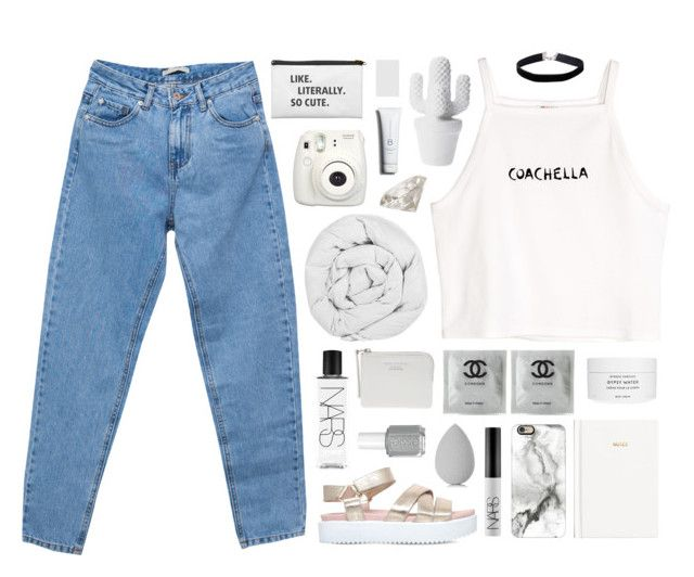 """""""it ain't my fault"""" by tropical-kiddo ❤ liked on Polyvore featuring Pull&Bear, H&M, KG Kurt Geiger, Miss Selfridge, The Fine Bedding Company, Byredo, Casetify, NARS Cosmetics, The Webster and beautyblender"""