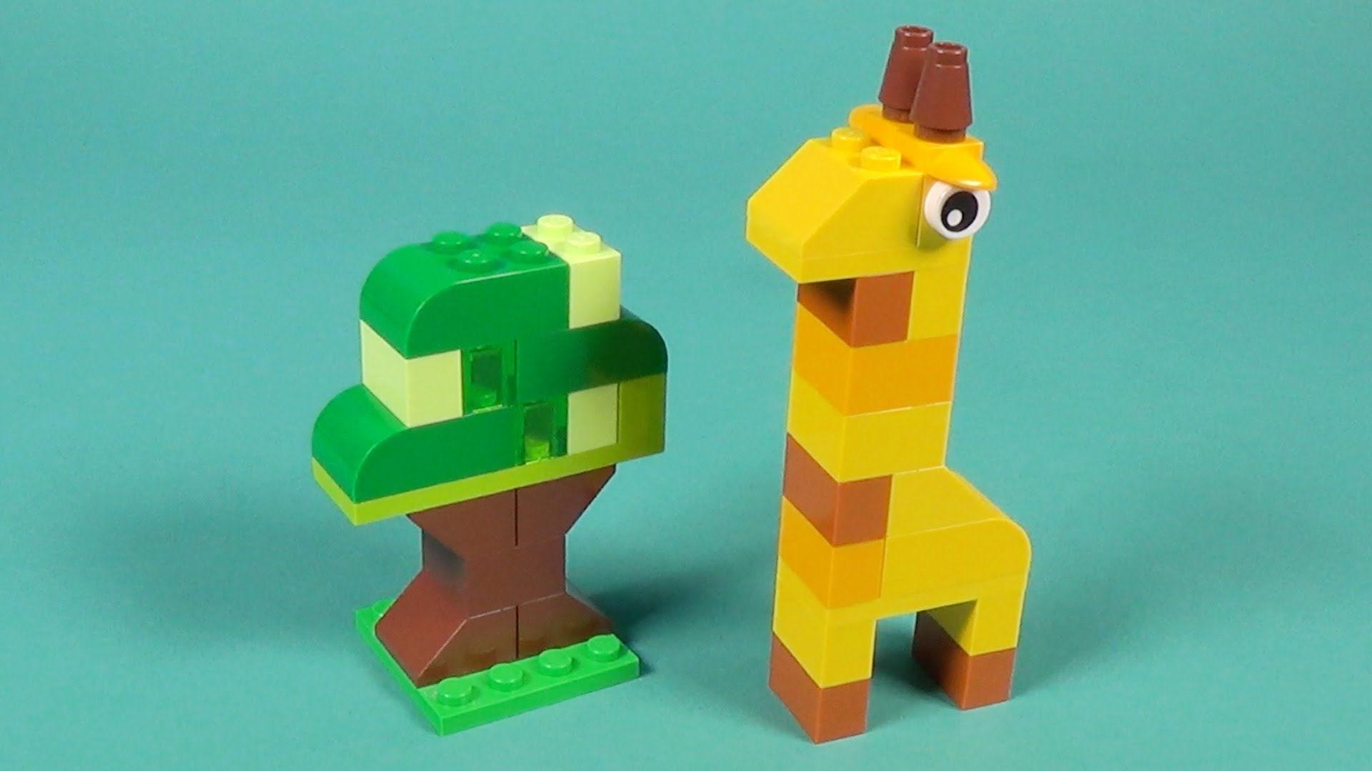 Lego Giraffe And Tree Building Instructions Lego Classic 10695