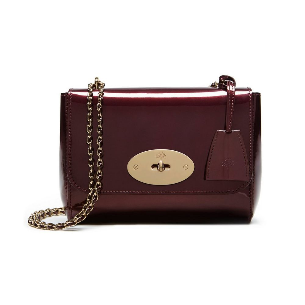 Mulberry Gift Collection - Lily in Oxblood Mirror Metallic Leather ... 247cb1239fca1