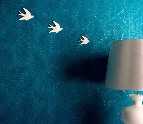 Trendir Home Decorating Trends Magazine Wall Texture Design Blue Wallpaper Bedroom Modern Textured Wallpaper