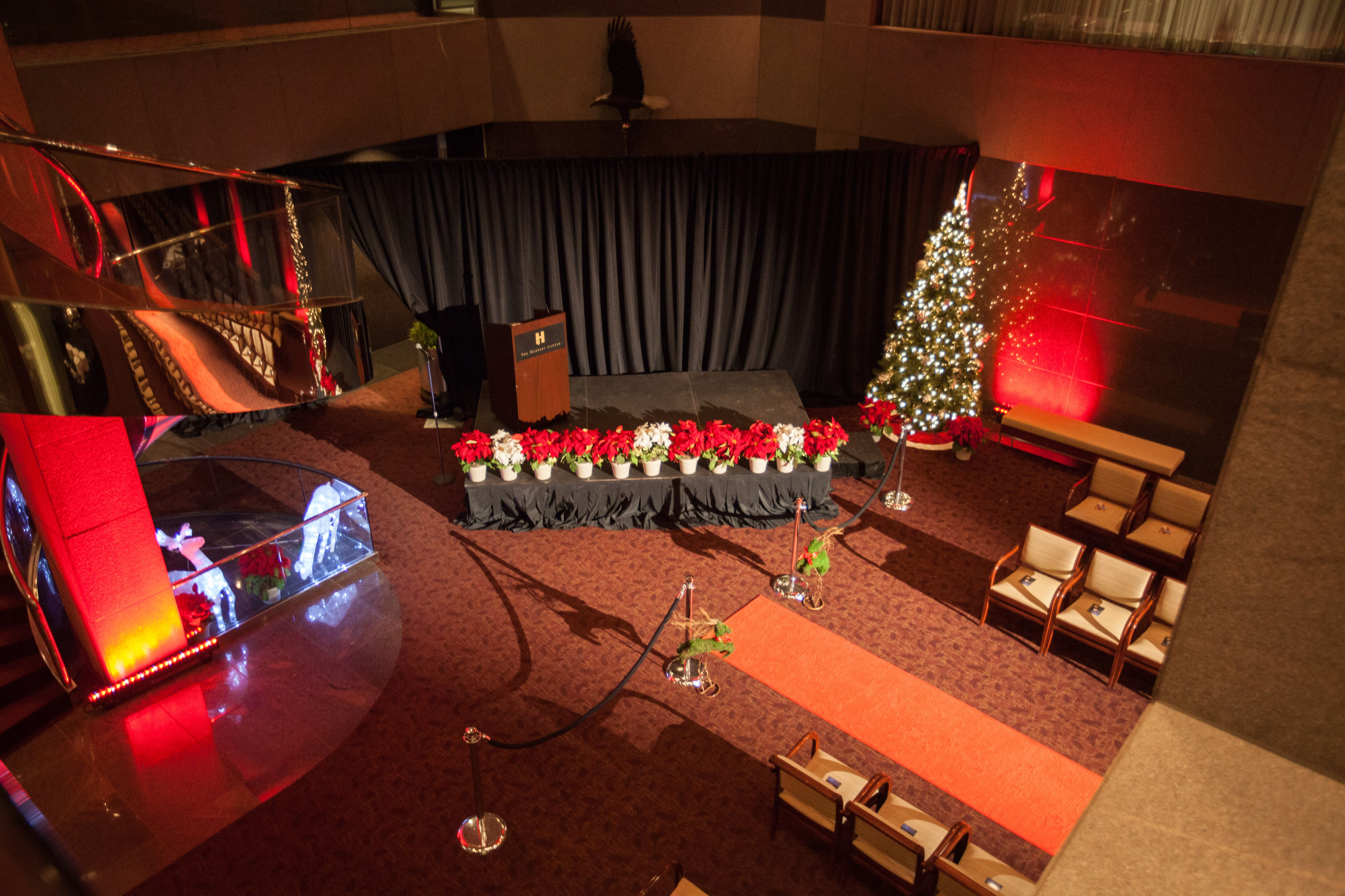 Holiday Charity Event and Fundraiser Stage