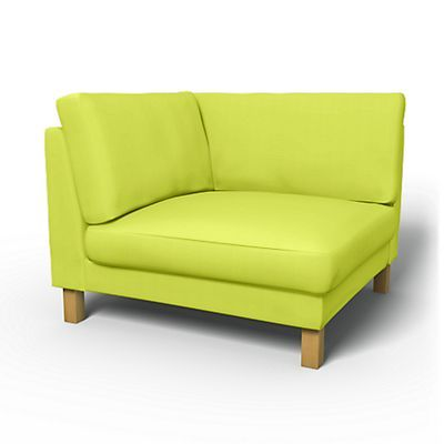 Karlstad Corner module, add-on unit cover - Sofa Covers | Bemz... Daiquiri Green Panama Cotton $130