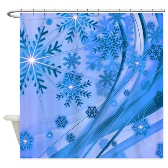 Winter Snowflakes Shower Curtain By Liviana Snowflake Shower