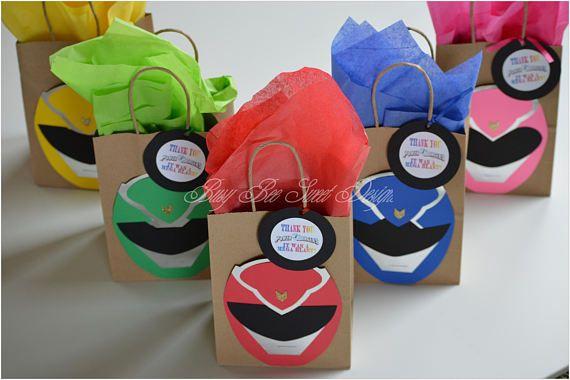 Custom Made Power Ranger PARTY BAGS