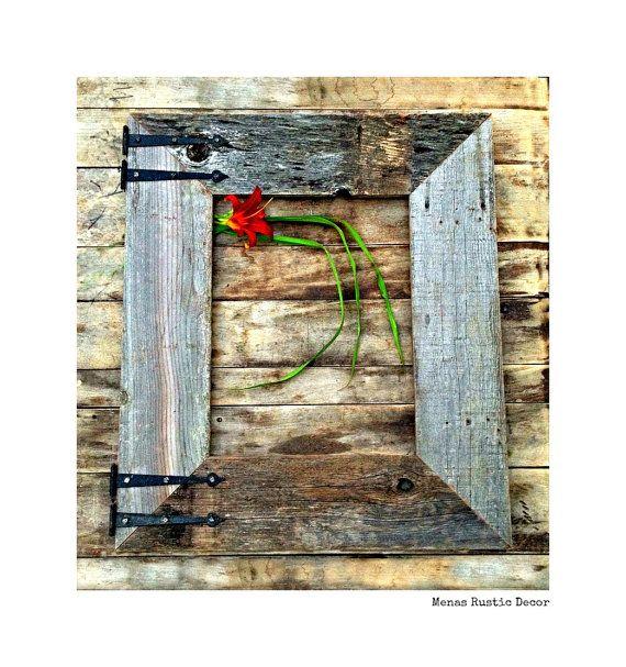 Rustic Barnwood Frame & Old Hinges 16x20 Reclaimed Wood, Rustic ...