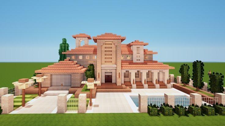 Pin By Izzy 3 On Minecraft In 2020 Minecraft Mansion Easy Minecraft Houses Minecraft House Tutorials