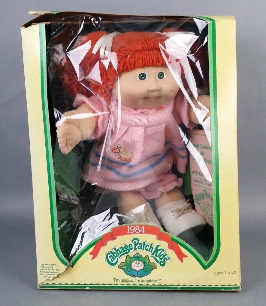 Vintage 1984 Cabbage Patch Kids Red Haired Doll Shawna Juana Cabbage Patch Kids Real Life Baby Dolls Vintage Toys
