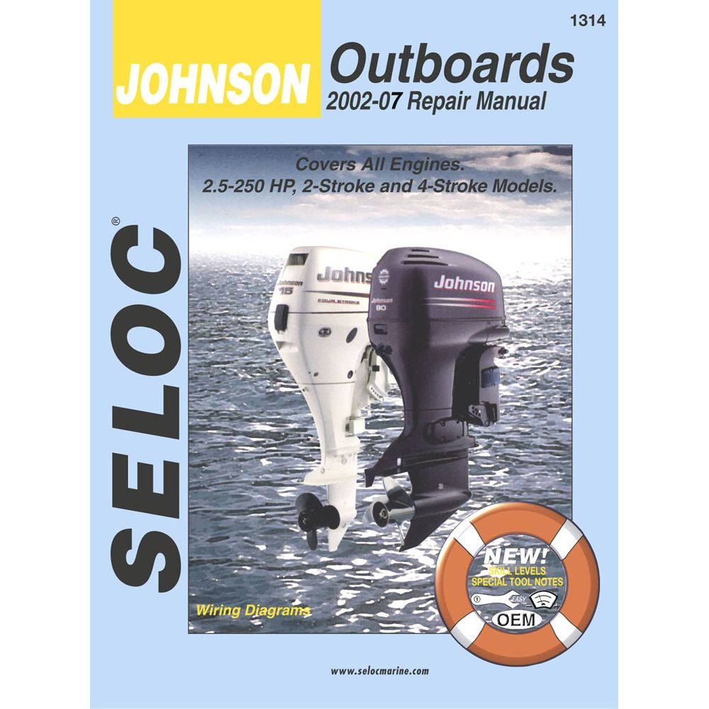 Seloc Serive Manual Johnson Outboards 2002-2007 - Boat Parts for Less