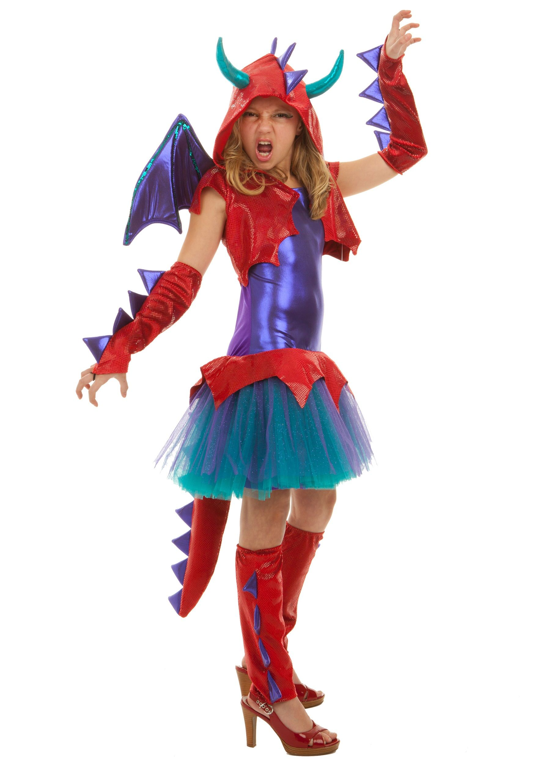 Tween Dragon Girls Costume | Dragon costume, Animal costumes and ...