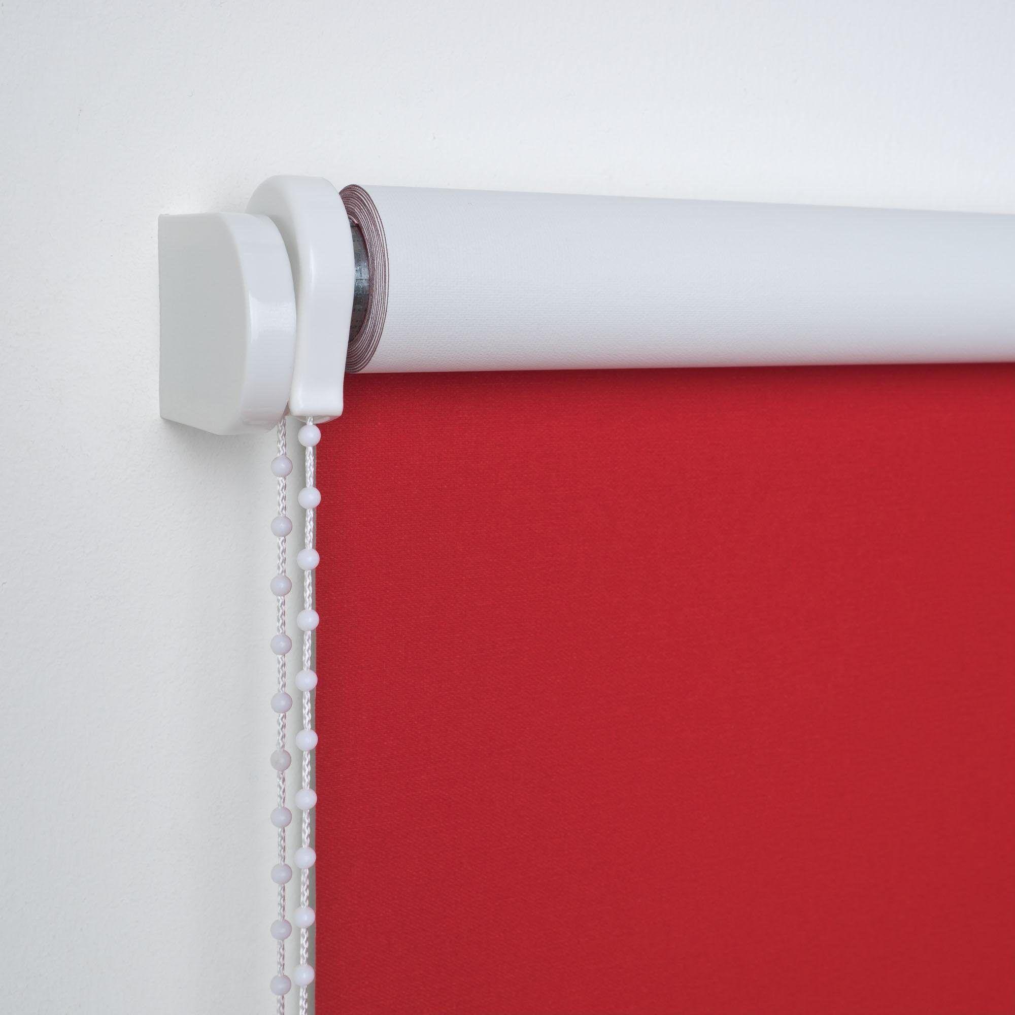 Liedeco Seitenzugrollo, rot