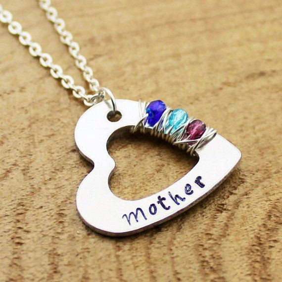 Personalized Mother's Necklace Custom by RootedInLoveCustom