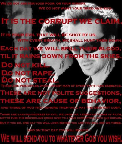 The Boondock Saints Movie Cross and Poem 36x24 Art Print Poster