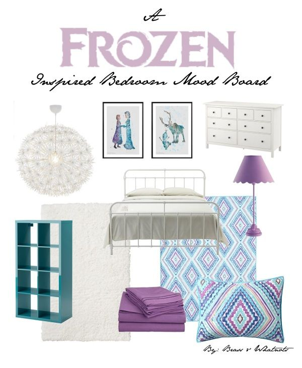 A Frozen Inspired Bedroom Mood Board