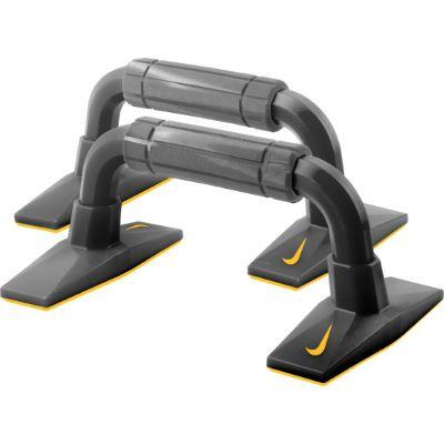 Nike - Push-Up Grips 2.0 Armhävningshandtag - Grey/Black/Citrus   Övriga träningsredskap