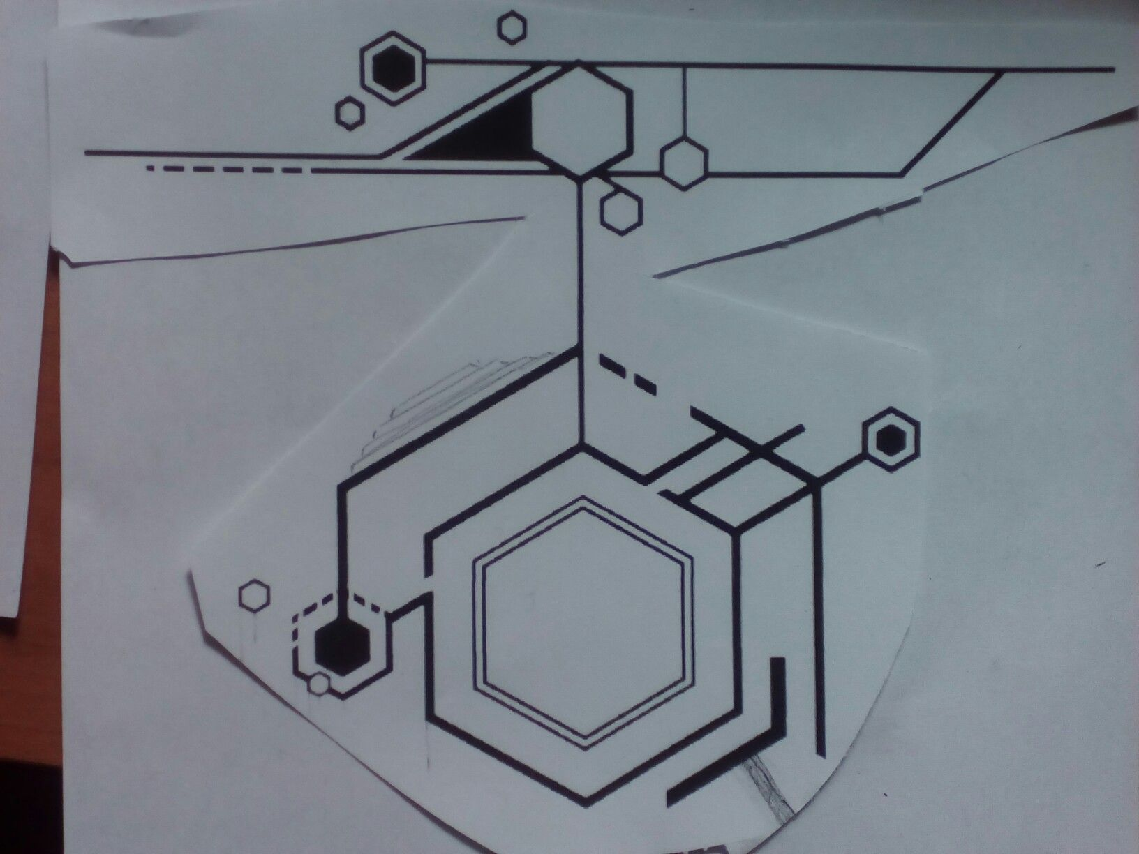 Hexagon tattoo element Geometry, Circuit Tattoo, Hexagon Tattoo, Tatoos,  Symbols, Logos