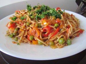 Gluten free veggie ragu pasta