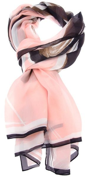 Yes...pink and black color flash back. It was my favorite color combo for  clothing many yrs. ago.  ) Fendi Pink Printed Silk Scarf 1b4970858e4