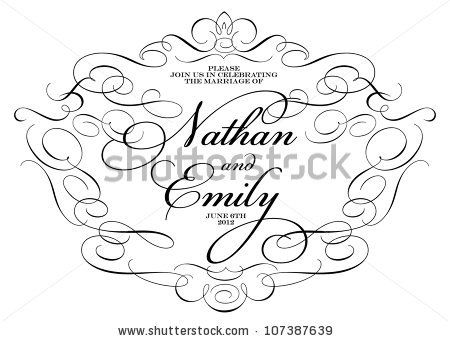 Vector Ornate Wedding  Frame. Easy to edit. Perfect for invitations or announcements. by vectorkat, via ShutterStock
