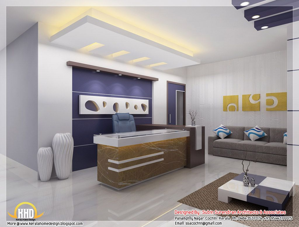 Corporate Office Decor Beautiful 3D Interior Office Designs