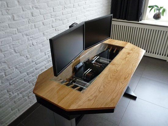 Nice Computer Case Desk On Computers Computer Case Desk Diy Desk Plans Diy Computer Desk Woodworking Desk Plans