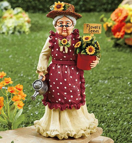 Grandma Garden Statue | Home & Garden Decor | Pinterest | Garden ...