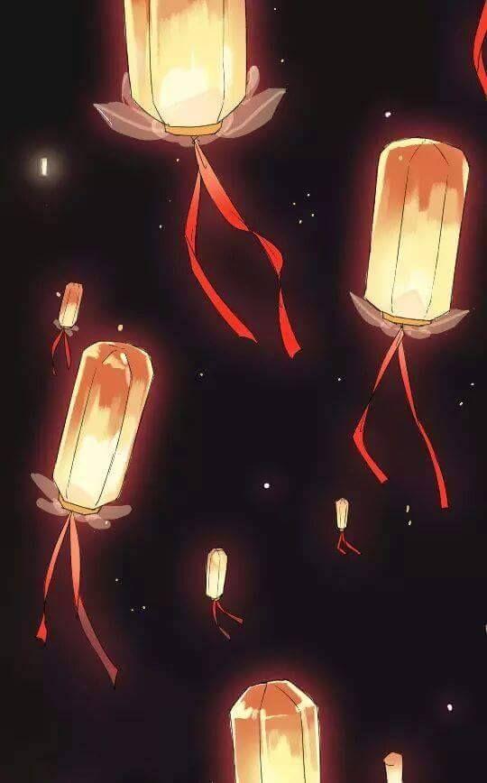 Night Lanterns Illustration Light Your Heart