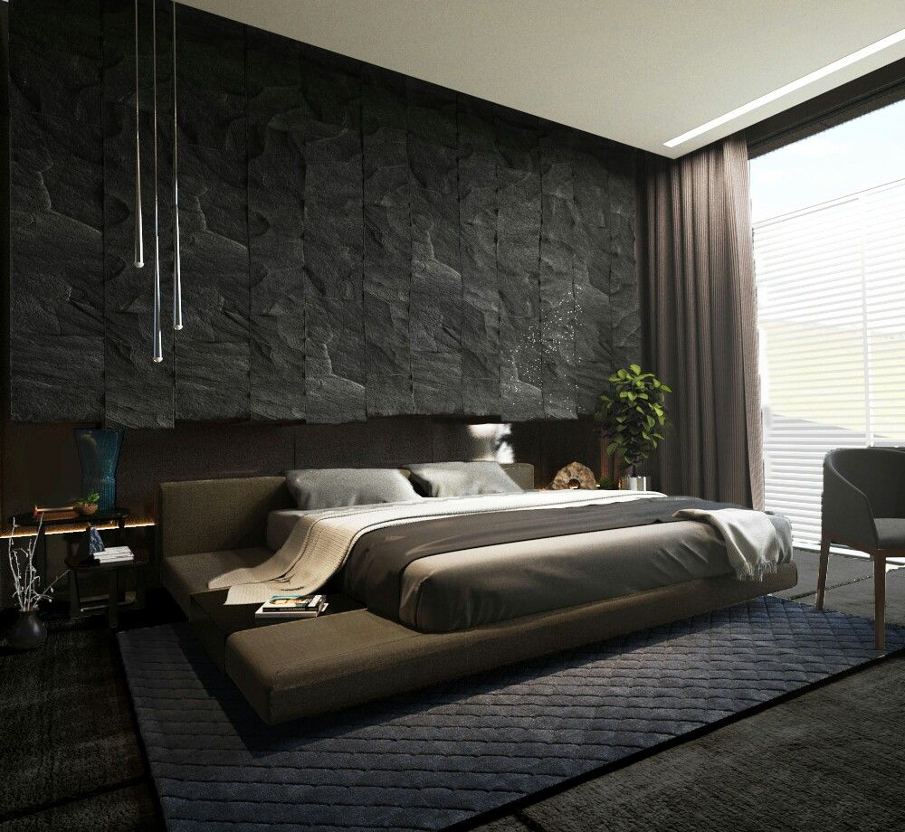 How To Get That Textured Wall Modern Bedroom Design Bedroom Interior Modern Master Bedroom #textured #wall #living #room