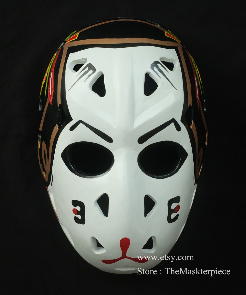 Pin On Full Size Hockey Helmet Mask For Sale From Etsy