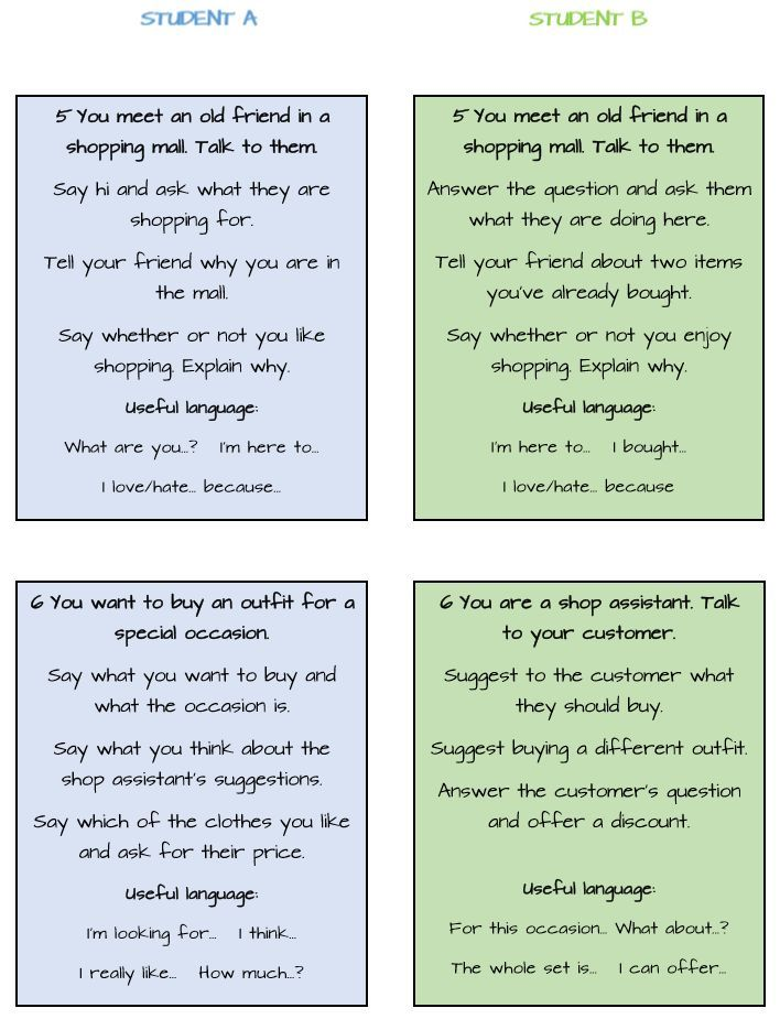 role play speaking activities pdf