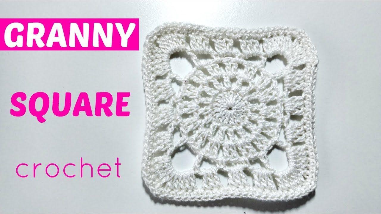 cuadrado crochet blanco   ΠΛΕΞΙΜΟ ΜΕ ΒΕΛΟΝΑΚΙ   Pinterest   Granny ...
