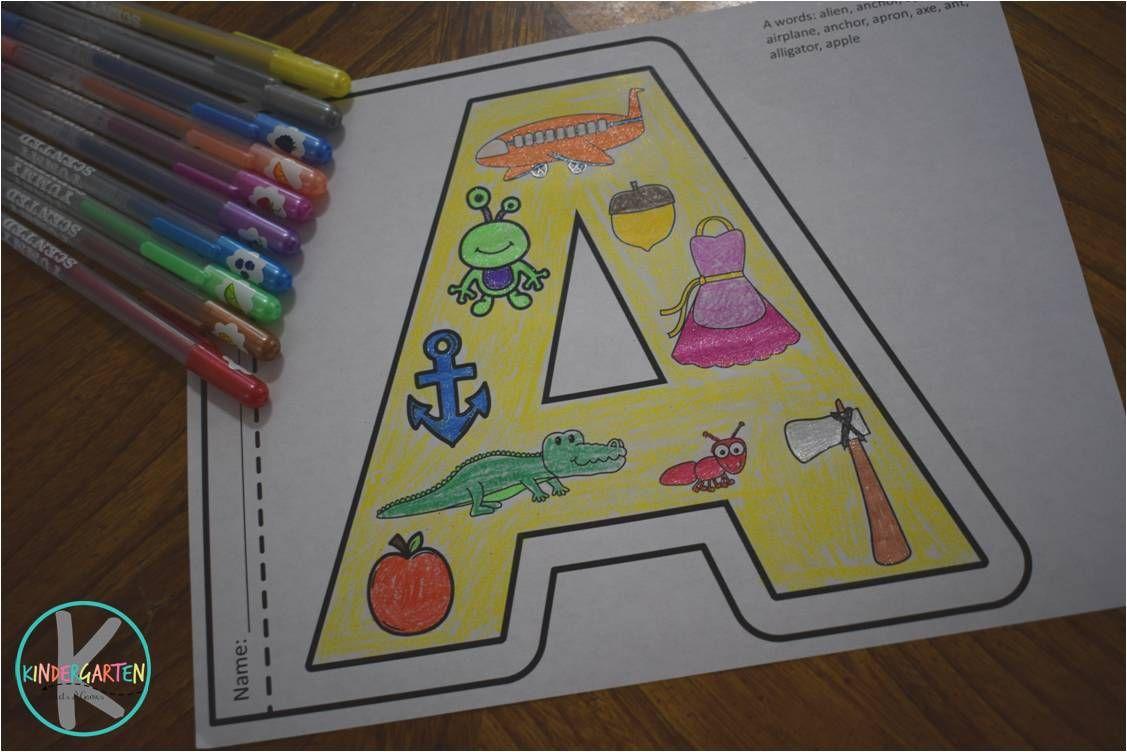 Alphabet coloring sheets class pinterest school kindergarten