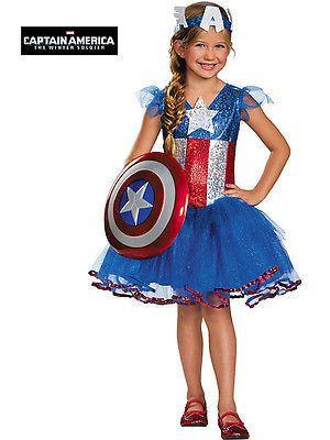 75021a926 American Dream Tutu Costume for Kids - Captain America Girl Costume ...