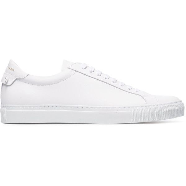 e26d31185b7 Givenchy white Urban Knots lace-up sneakers ( 463) ❤ liked on Polyvore  featuring men s fashion