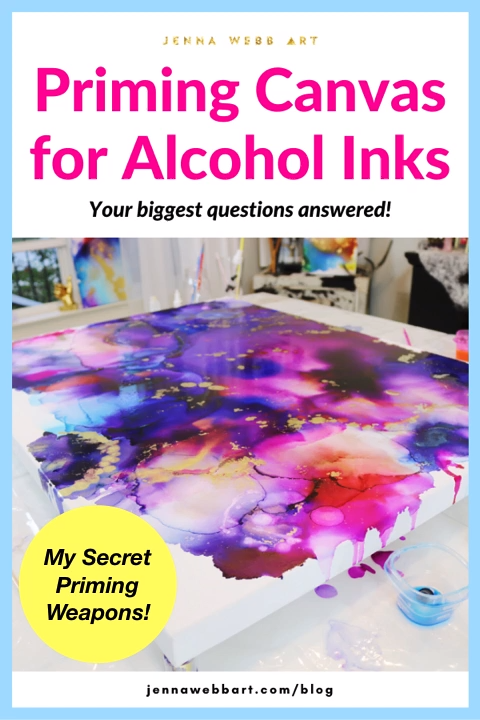 Priming Canvas for Alcohol Ink Painting