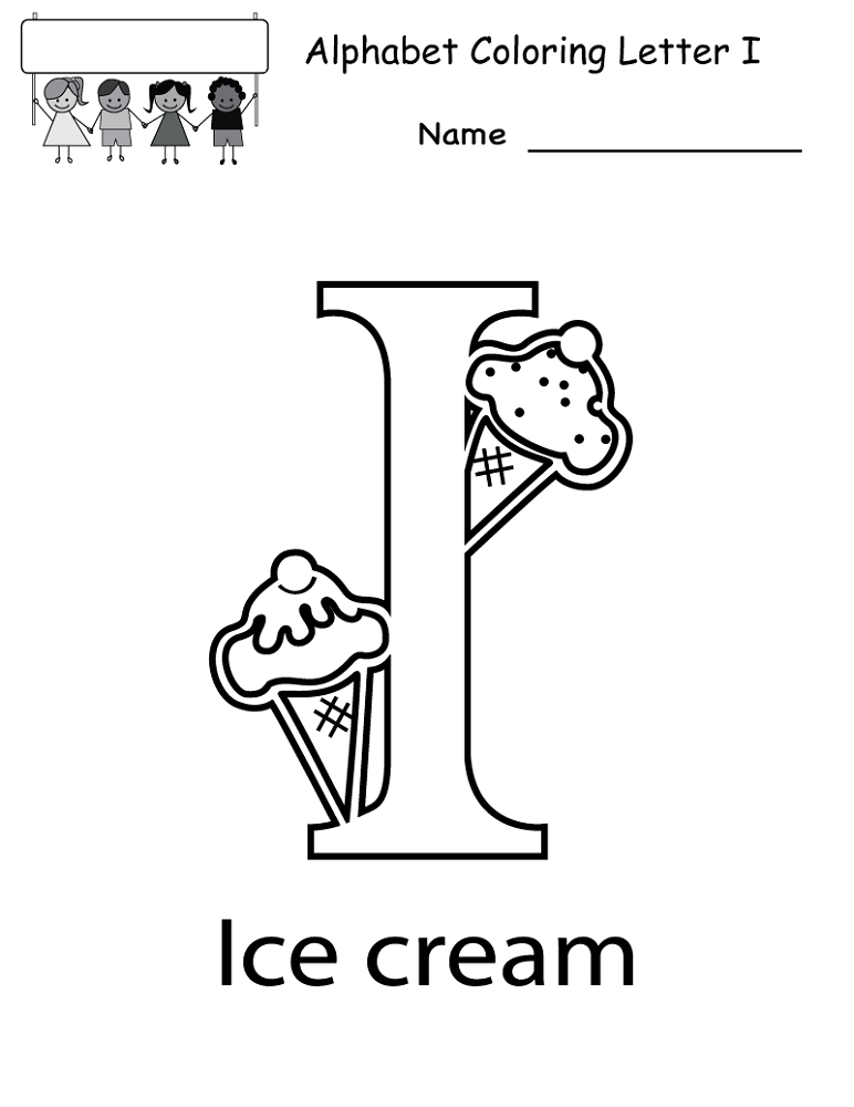 Letter I Worksheets to Print | Activity Shelter | Coloring Pages ...