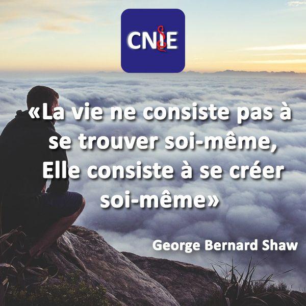 """""""La vie ne consiste pas à se trouver soi-même, elle consiste à se créer soi-même""""@Cnie_Medical #quoteoftheday #positive #motivationquotes"""