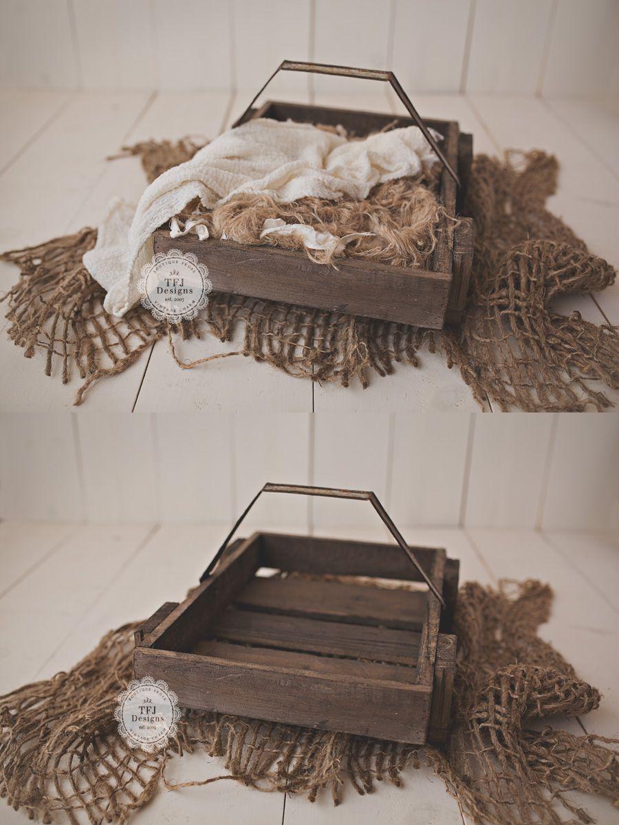 TFJ Designs Low Rise Wooden Basket