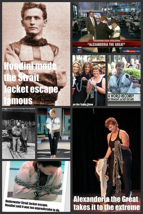 Escape artist Harry Houdini's strait jacket escape vs escape ...