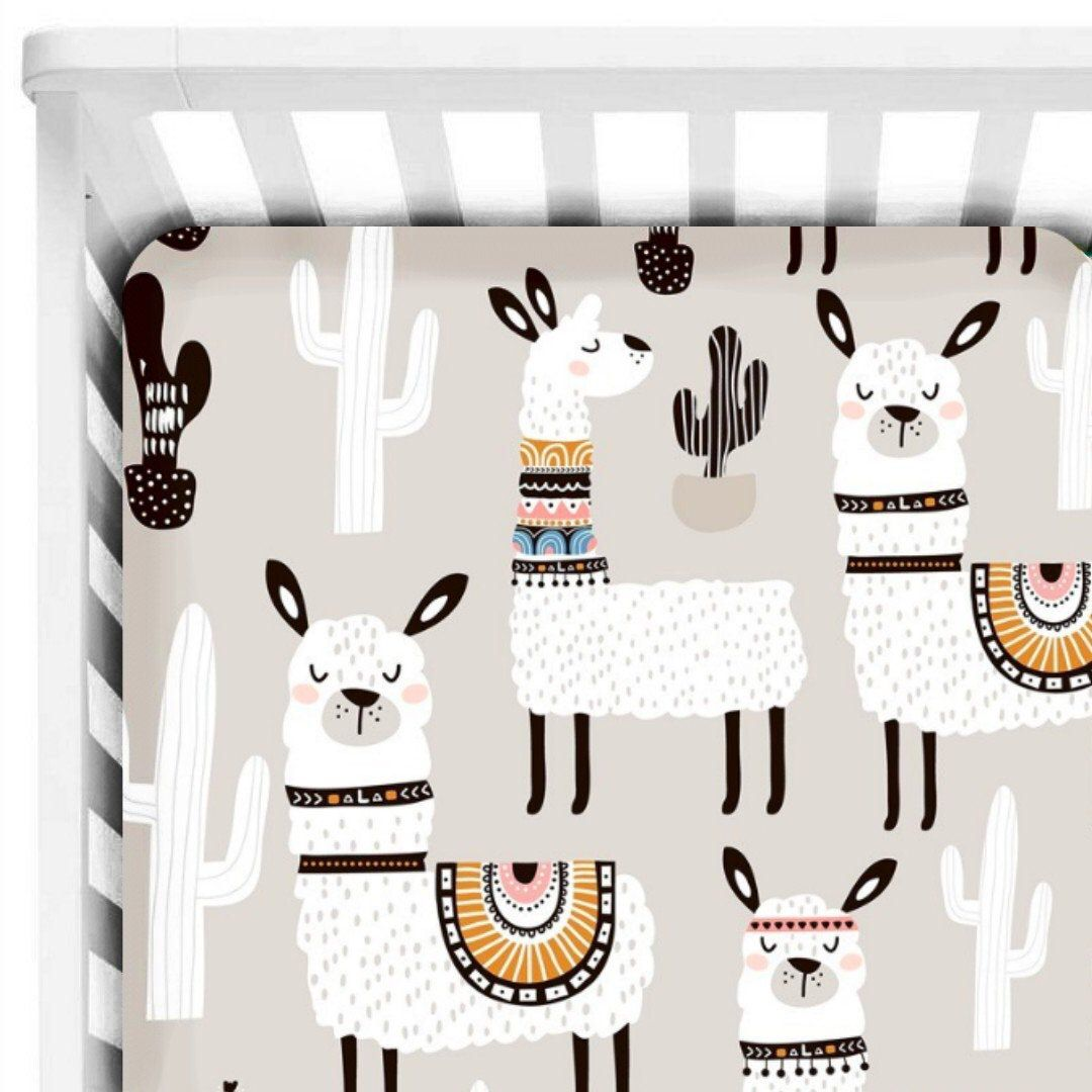 Llama Crib Sheets Llama Fitted Crib Sheet Crib Bedding Llama Nursery Llama Baby Boys Crib Bedding Set Gender Neutral Cot Sheets Baby Bedding Neutral Boys Crib Bedding Sets Baby Boy Crib Baby crib sheets for boys
