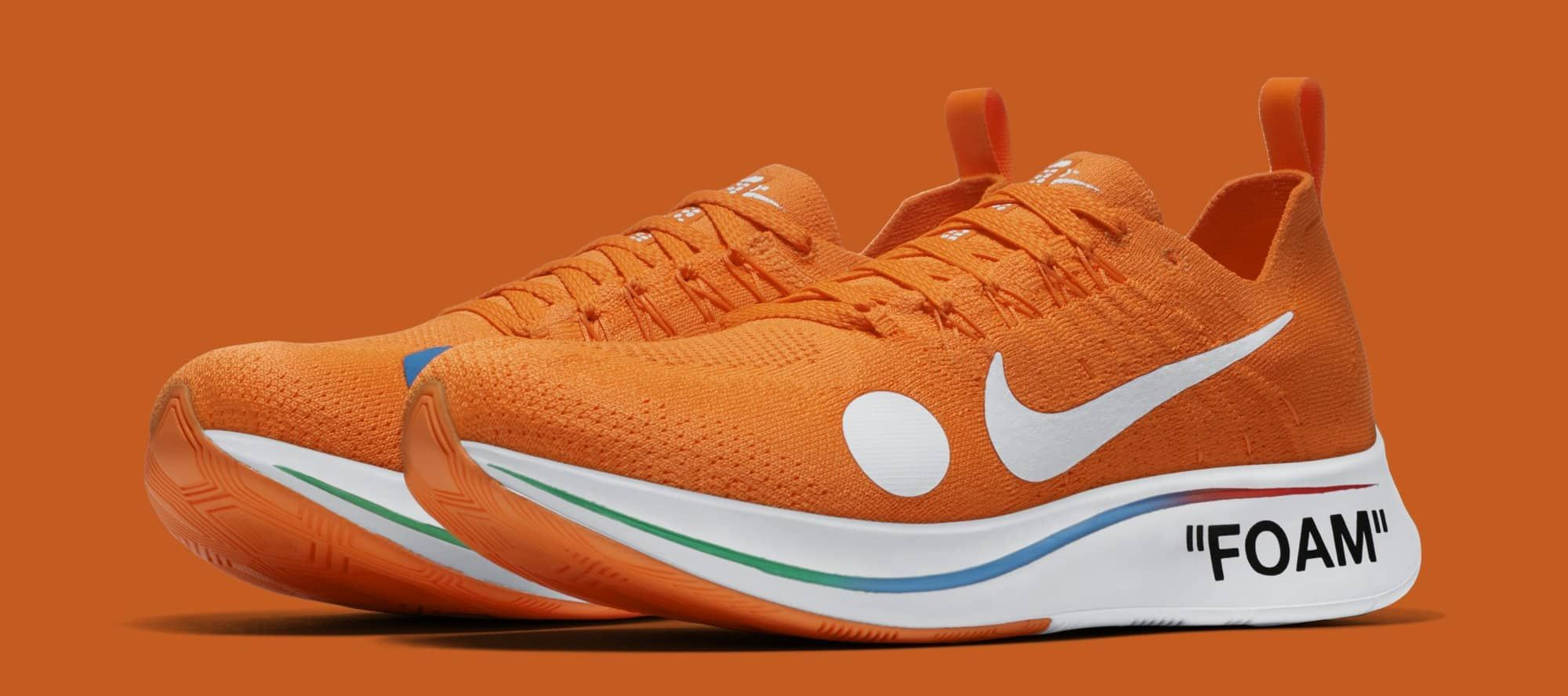 483f74e71bbc Off-White x Nike Zoom Fly Mercurial Flyknit  Total Orange  AO2115-800 (Pair)