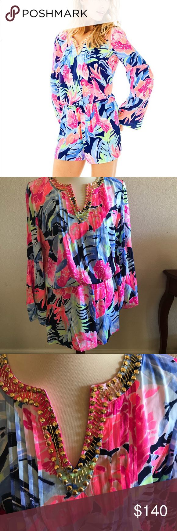 43653b76a69c NWT Lilly Pulitzer Arielle Romper Brand new with tags Arielle romper. The Ariele  printed romper