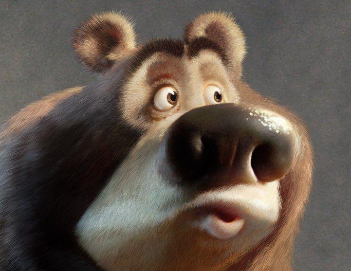 Днем вдв, рисунок смешной медведь