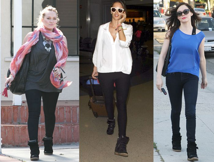 f0ab941da92 How to wear the sneaker wedge. These celebs sport their shoes in a more  casual way