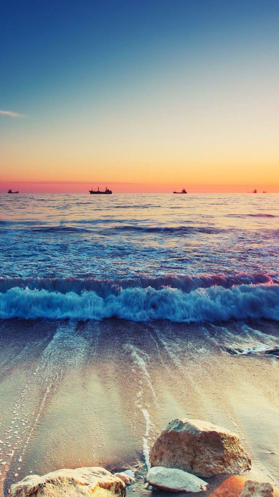Phone Wallpaper Landscape Beach Ocean Sea Scenery