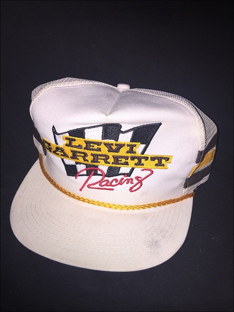 13b7c84fd55 Vintage Deadstock 80 s NASCAR Levi Garrett Racing Striped Snapback Hat by  RackRaidersVtg on Etsy