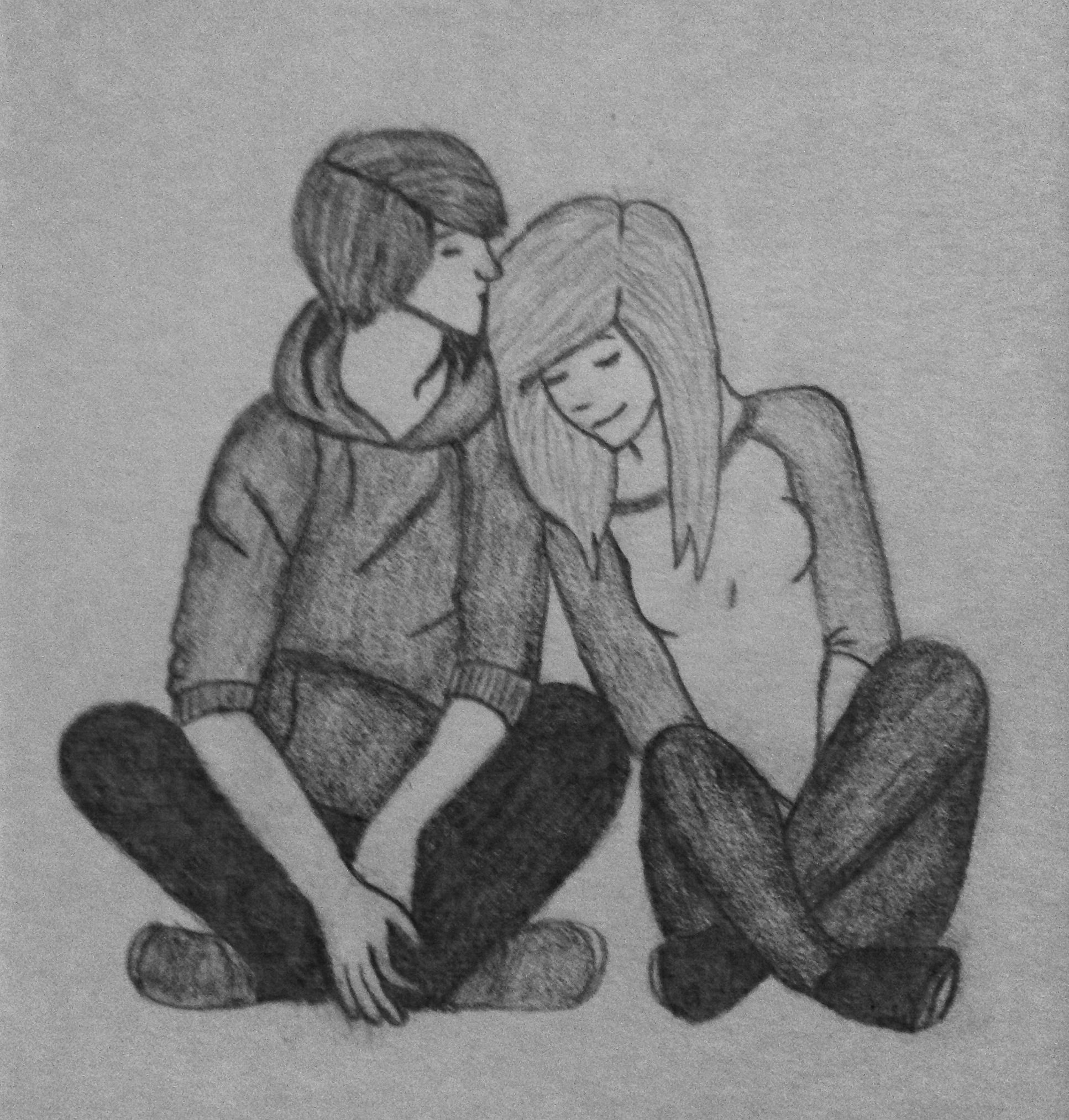 Drawing couple cute