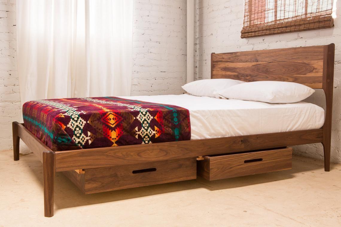 Classic Modern Bed with Storage (Mid Century Danish Modern ...