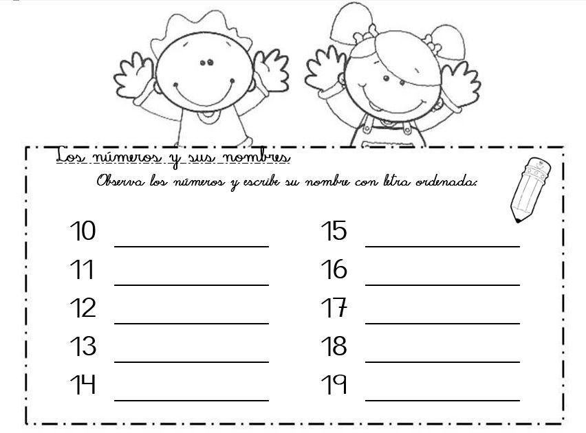 Escribiendo El Nombre De La Familia Del 10 Matematica Primaria La Familia Del 10 Escritura De Numeros Actividades Actividades Escolares