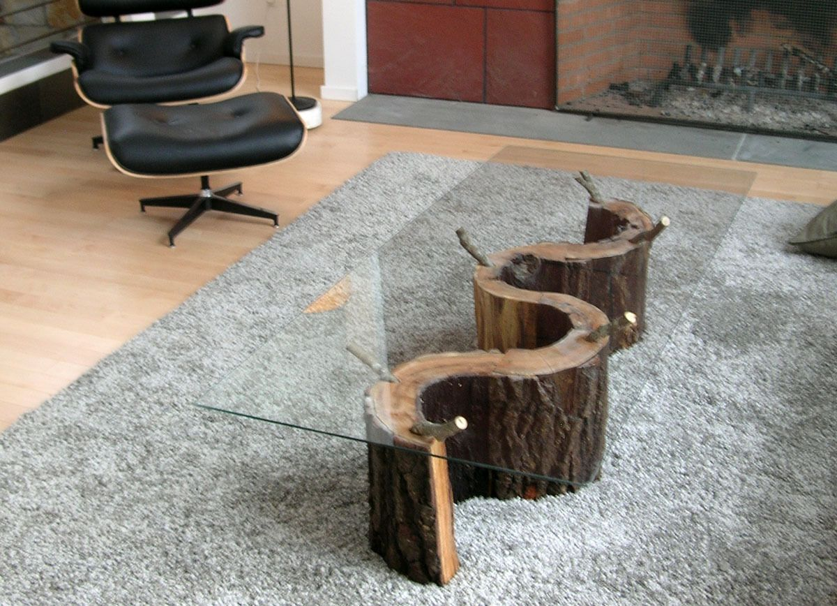 20 Tree Trunk Coffee Table Trunk Coffee Table Recycled Tree Projects Pinterest Tree